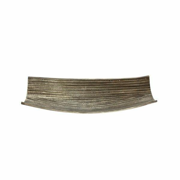 Schale Silber für Dekoration (Größe: 39 cm)