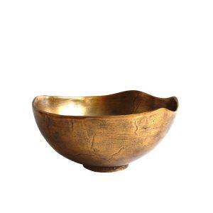 Große Schale Gold für Dekoration (30 cm)