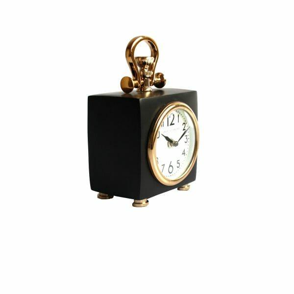 Schwarz-Gold Tischuhr für Dekoration (19 cm)