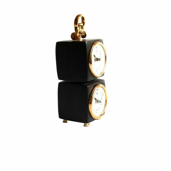 Schwarz-Gold Doppeluhr für Dekoration