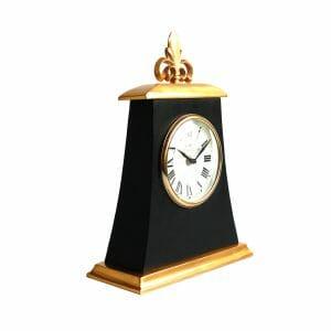 Greenwich Meantime Schwarz-Gold Tischuhr (36 cm)