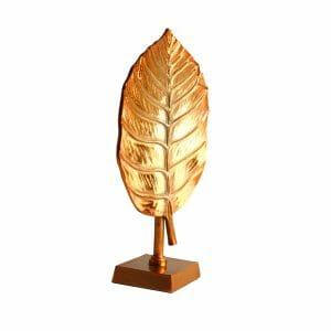 Deko-Blatt Statue Gold (Größe: 43 cm)