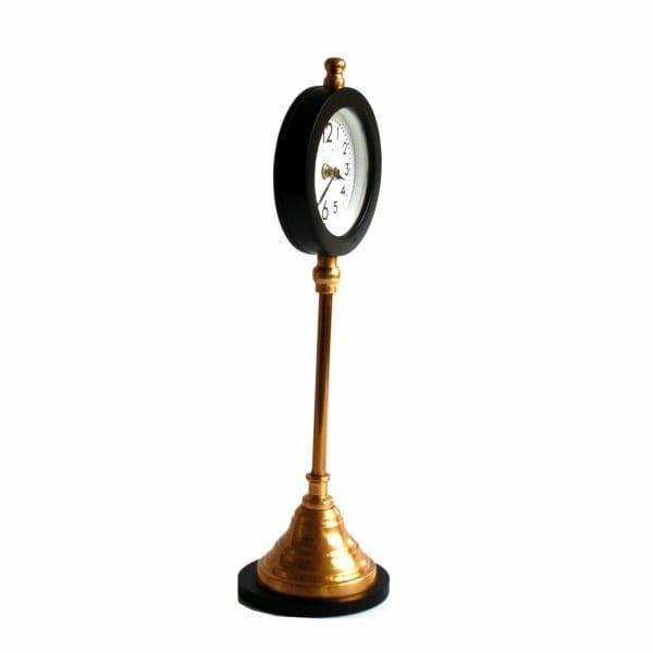 Edward & Florence Schwarz-Gold Tischuhr (44 cm)