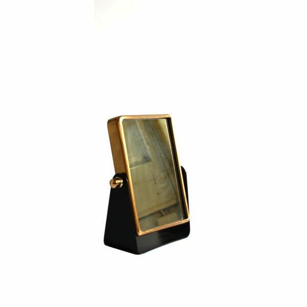 Kosmetikspiegel Schwarz-Gold (Größe: 23 cm)