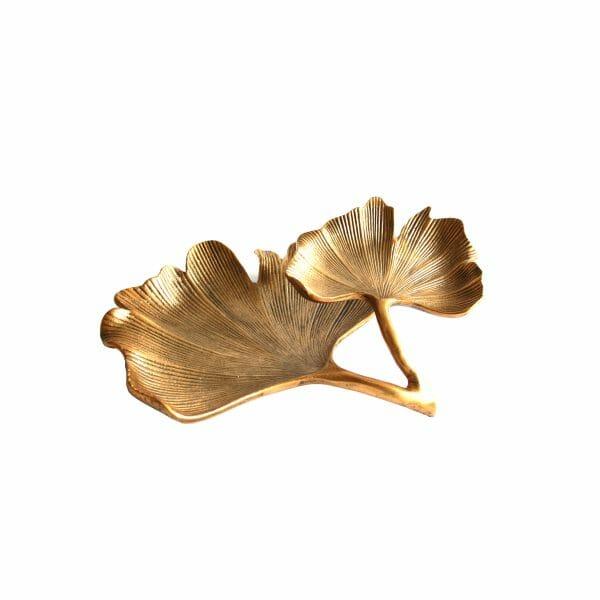 """Schale """"Blätter"""" Gold für Dekoration (32 cm)"""