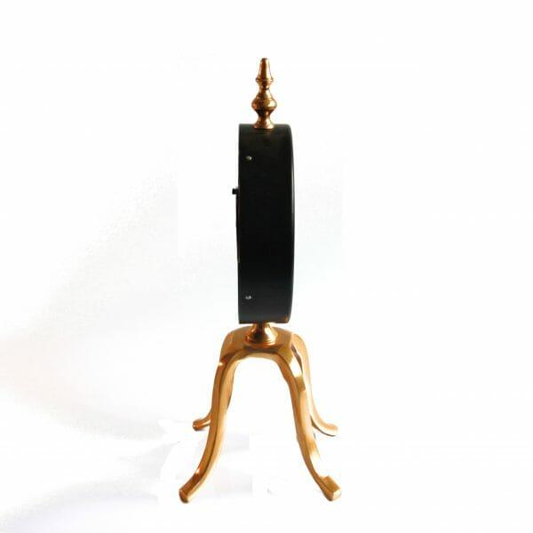 Vintage-Design Schwarz-Gold Standuhr für Dekoration (39 cm)