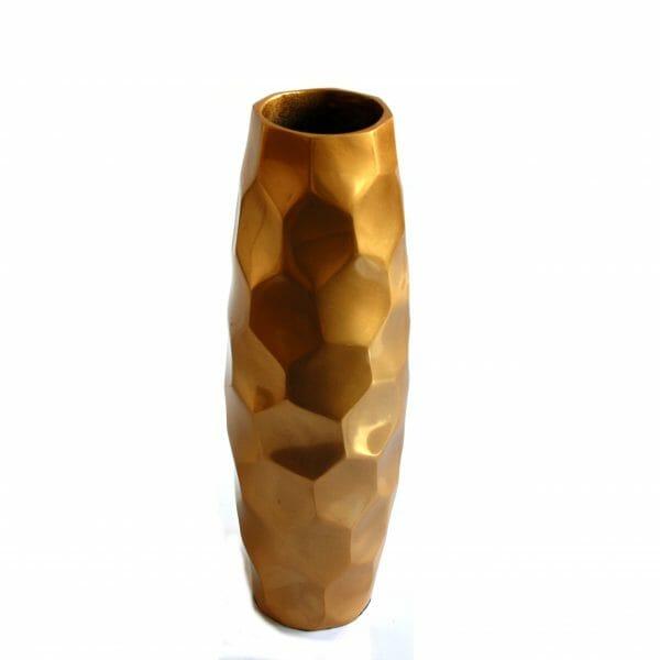Vintage-Design 35,5 cm hoch Gold Vase