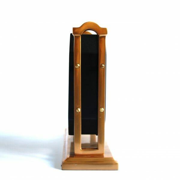 Vintage-Design Schwarz-Gold Standuhr für Dekoration (27 cm)