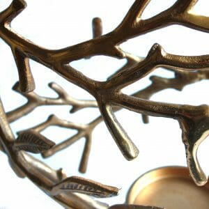 Vintage-Design Gold Statue für Dekoration (43 cm)