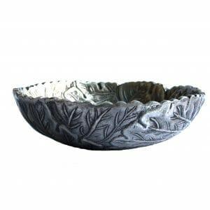 Vintage-Design Silber Schale für Dekoration (25 cm)