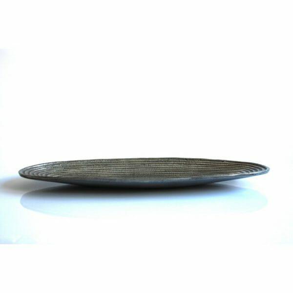 Vintage-Design Silber Schale für Dekoration (45 cm)
