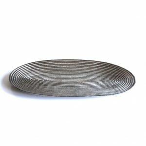 Vintage-Design Silber Schale für Dekoration (53 cm)