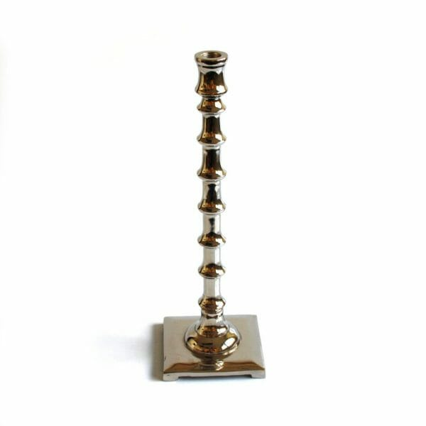 Vintage-Design 37 cm hoch Silber Kerzenhalter
