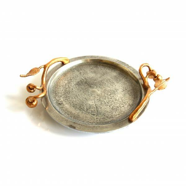 Vintage-Design Gold-Silber Schale für Dekoration (36 cm)