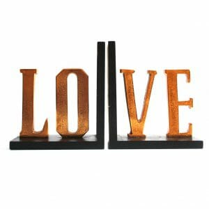 Vintage-Design Schwarz-Gold LOVE Buchstaben
