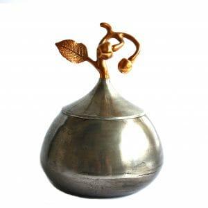 Vintage-Design 26 cm Silber-Gold Kessel