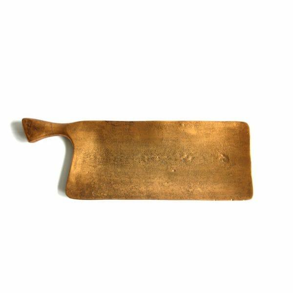 Vintage-Design Gold Schale für Dekoration (44 cm)