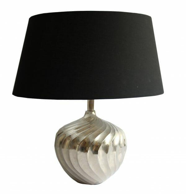 Vintage-Design Schwarz-Silber Tischlampe (54 cm)
