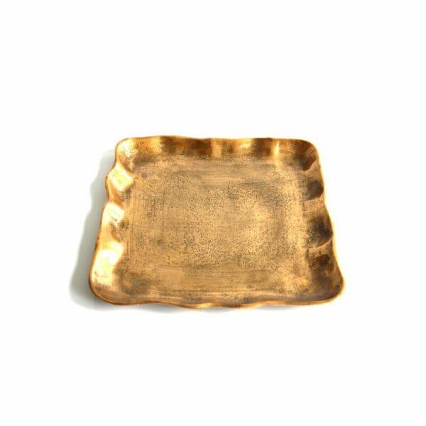 Vintage-Design Gold Schale für Dekoration (32 cm)