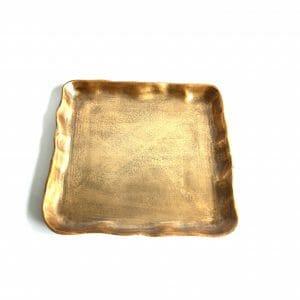 Vintage-Design Gold Schale für Dekoration (39 cm)