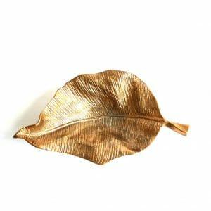 Vintage-Design Gold Schale für Dekoration (33 cm)