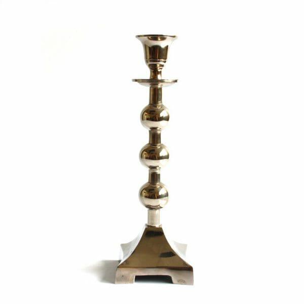 Vintage-Design 27 cm hoch Silber Kerzenhalter