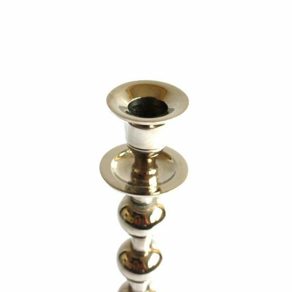 Vintage-Design 31 cm hoch Silber Kerzenhalter